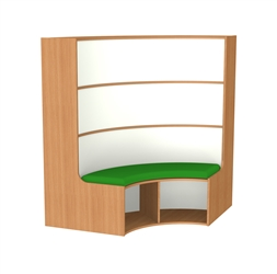 new style c7d82 718c7 1500mm Curved Bookcase Seat